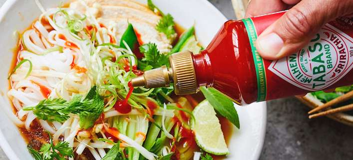 Chicken Pho Tabasco