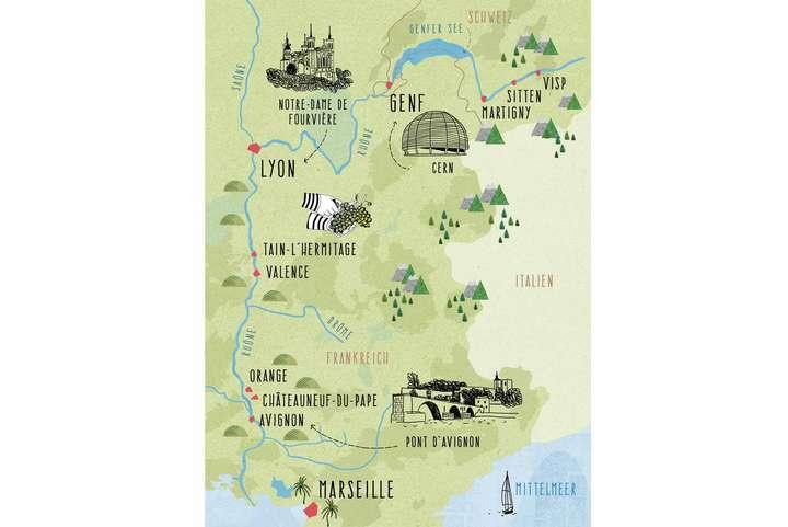 Piemont Weinbau Karte.Wasserweg Nach Süden Die Rhône Und Der Wein Falstaff
