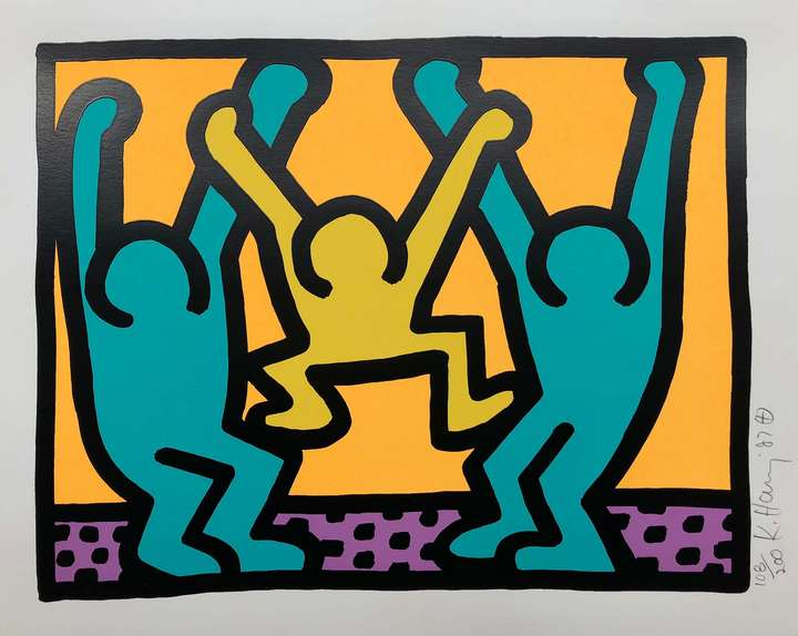 Keith Haring – «Pop Shop I» 1987, Silkscreen on paper, 30,5 x 38 cm, Ed. of 200, signed